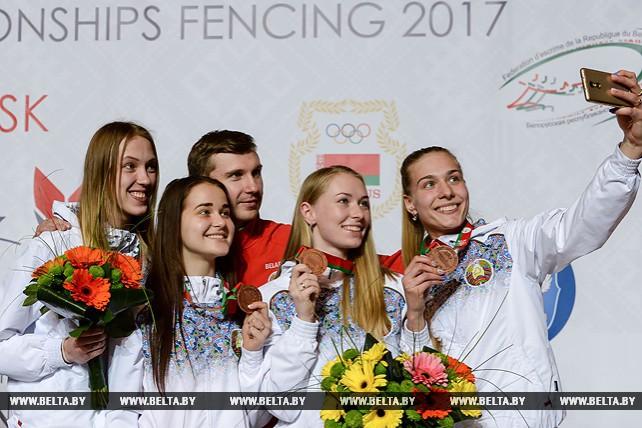 Белорусские саблистки завоевали бронзовые награды на молодежном ЧЕ по фехтованию в Минске