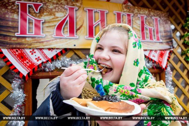 В Беловежской пуще отпраздновали Масленицу