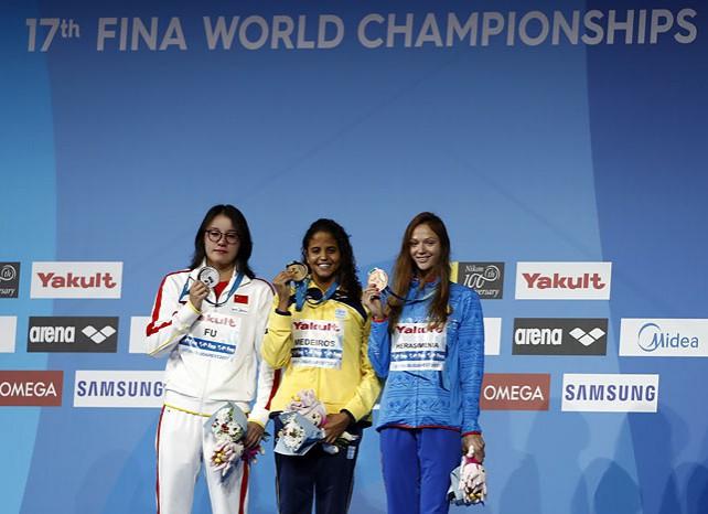 Александра Герасименя завоевала бронзу на чемпионате мира по плаванию