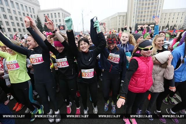 Легкоатлетический забег Beauty run состоялся в Минске 8 марта