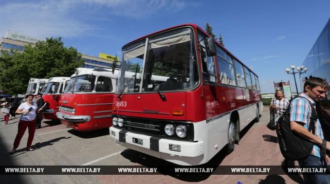 Выставка ретроавтобусов прошла в Минске 1 июля