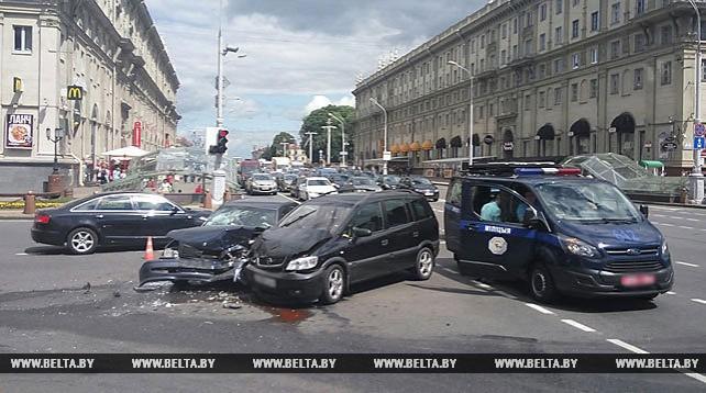 ДТП на проспекте Независимости в Минске