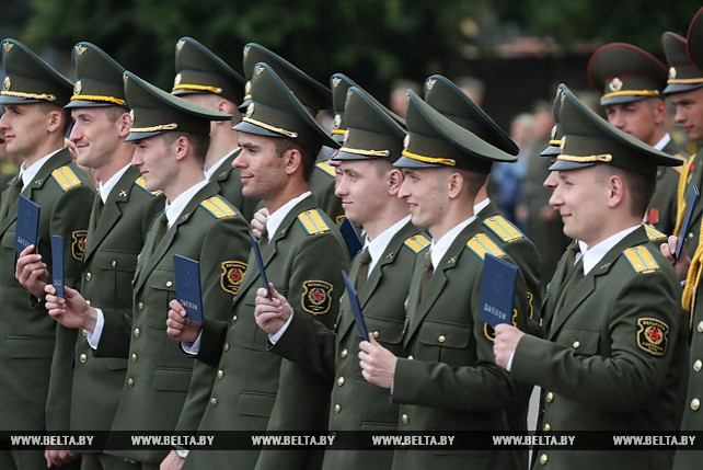 Выпуск офицеров Военной академии Республики Беларусь