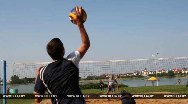 Сотрудники минских предприятий сыграли в пляжный волейбол