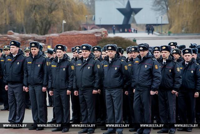 В Бресте прошел торжественный митинг, посвященный 100-летию милиции Беларуси
