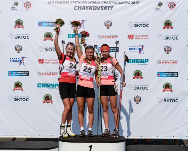 Белорусская биатлонистка Динара Алимбекова завоевала серебряную медаль летнего чемпионата мира