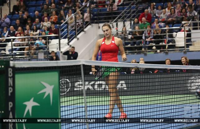 Арина Соболенко обеспечила теннисисткам Беларуси выход в полуфинал Кубка Федерации