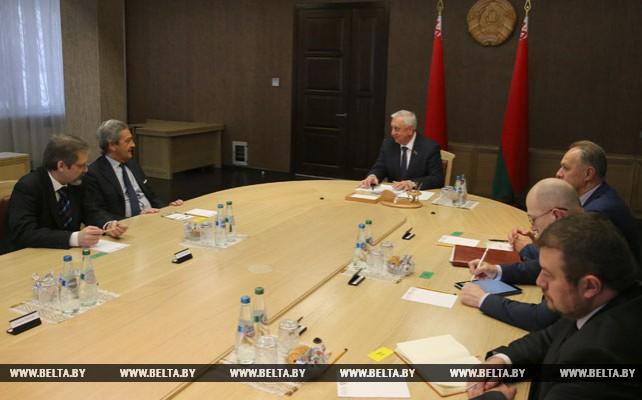 Мясникович провел встречу с Ригони