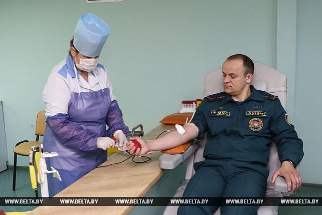 Акция по безвозмездной сдаче крови проходит в Гродно