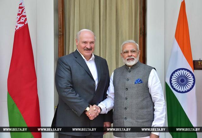 Официальные переговоры Лукашенко и Моди в Нью-Дели