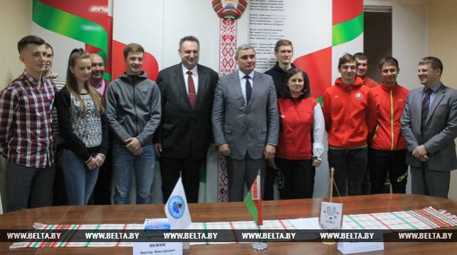 Белорусскую делегацию проводили на Всемирную зимнюю универсиаду
