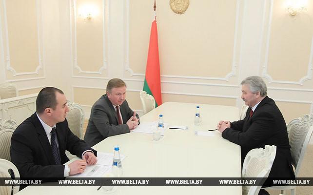 Кобяков встретился с Чрезвычайным и Полномочным послом Молдовы в Беларуси