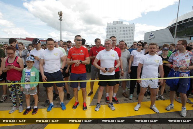 """Благотворительная акция """"Забег тысячи сердец"""" прошла в Минске"""