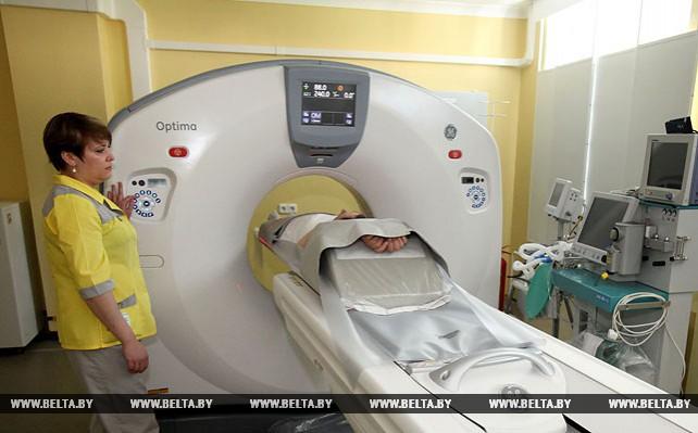 Новый компьютерный томограф установлен в Новополоцкой центральной городской больнице