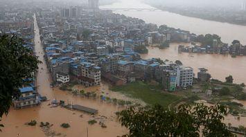 Непрерывные ливни вызвали наводнения в центральной части Китая