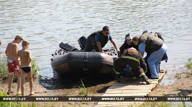 На берегу Сожа прошли тактико-специальные учения подразделений МЧС Ветковского и Добрушского районов
