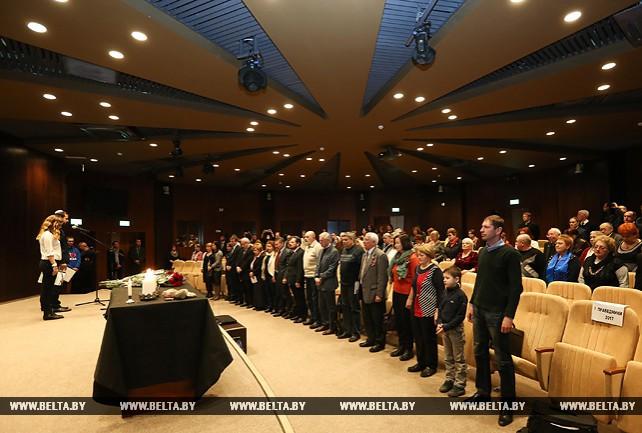Церемония ко Дню памяти Катастрофы и героизма европейского еврейства прошла в Минске