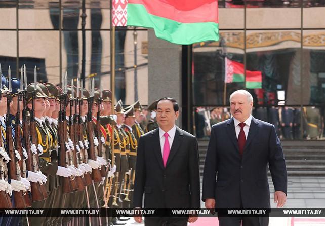 Встреча президентов Беларуси и Вьетнама прошла во Дворце Независимости