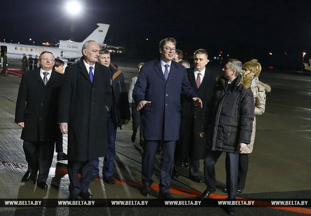 Председатель правительства Сербии прибыл в Беларусь