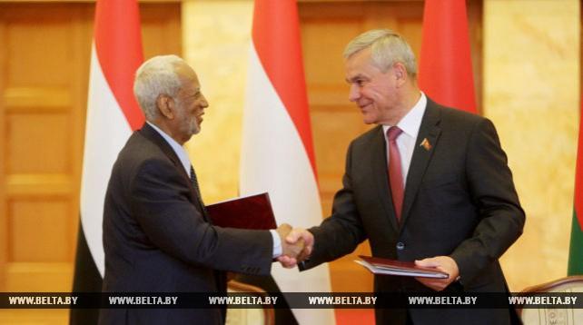 Беларусь и Судан подписали меморандум о межпарламентском сотрудничестве