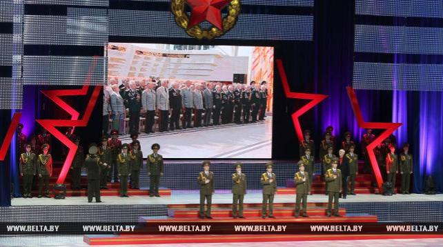 Торжественное собрание ко Дню защитников Отечества и Вооруженных Сил Беларуси прошло во Дворце Республики