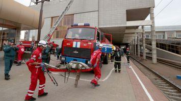 МЧС провело учение на вокзале в Минске