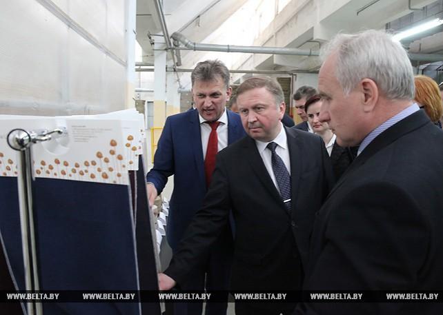 Кобяков посетил Оршанский льнокомбинат