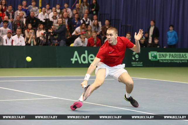 Белорусские теннисисты вышли вперед в матче Кубка Дэвиса с австрийцами