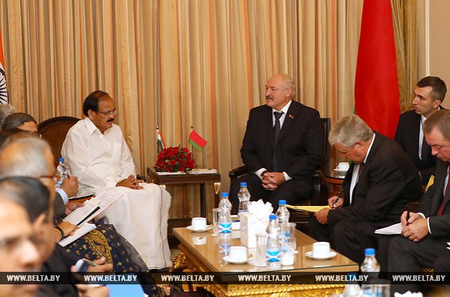 Лукашенко встретился с вице-президентом Индии Венкайахом Найду