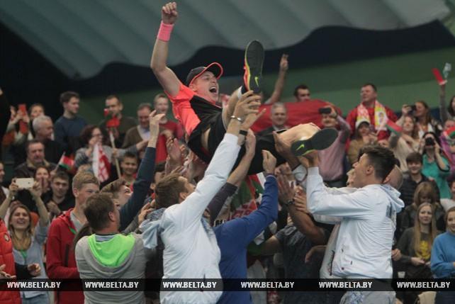 Илья Ивашко принес победу белорусам в матче Кубка Дэвиса с теннисистами Австрии