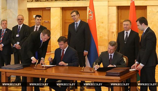 Беларусь и Сербия подписали дорожную карту по развитию сотрудничества на 2017-2018 годы