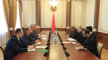 Андрейченко встретился с Чрезвычайным и Полномочным Послом Ирана в Беларуси Мостафой Овейси