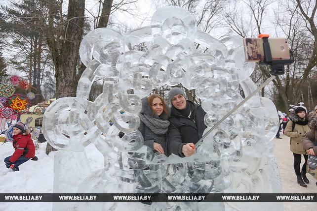 Фестиваль-конкурс ледовых и снежных скульптур в Центральном ботаническом саду