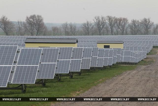 В Брагине работает крупнейшая в Беларуси солнечная электростанция