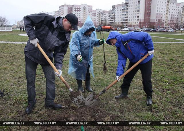 Работники Витебского горисполкома приняли участие в республиканском субботнике