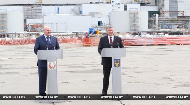Лукашенко и Порошенко посетили Чернобыльскую АЭС