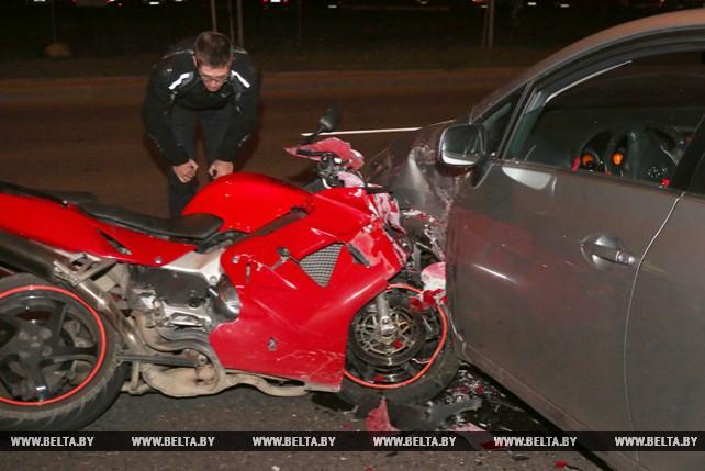 """В Гродно мотоциклист столкнулся с """"Тойотой"""""""