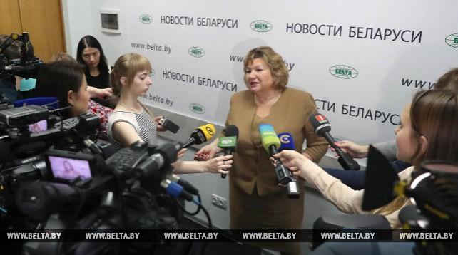 Брифинг министра информации Беларуси прошел в пресс-центре БЕЛТА