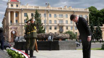 Министр иностранных и европейских дел Словакии возложил венок к монументу Победы в Минске