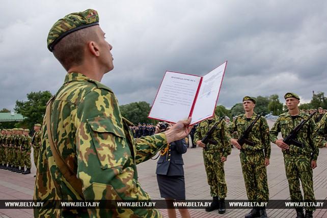 Военнослужащие внутренних войск приняли присягу в Брестской крепости