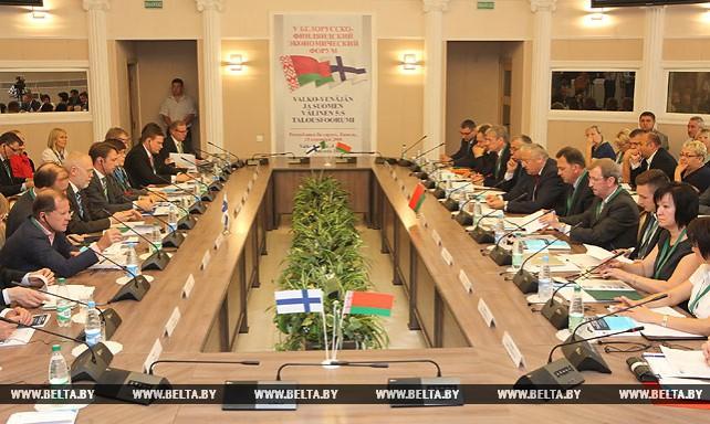 Белорусско-финляндский экономический форум проходит в Гомеле
