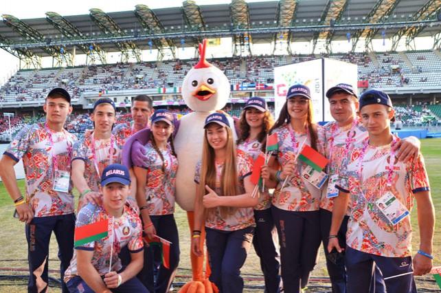 Белорусская делегация приняла участие в открытии Европейского юношеского олимпийского фестиваля