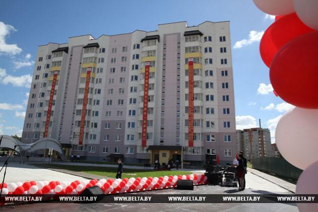 В Могилеве сдали в эксплуатацию первый социальный дом, построенный за средства КНР