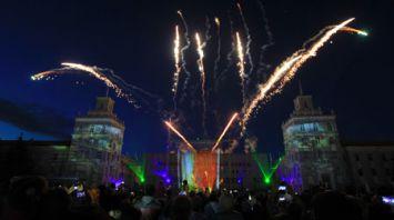 МТЗ устроил световое шоу в честь дня рождения