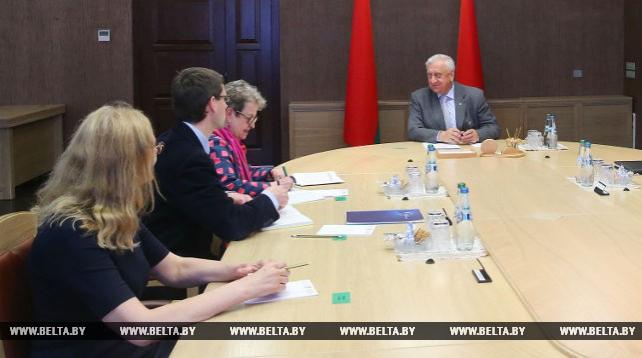 Мясникович встретился с главой представительства ЕС в Беларуси