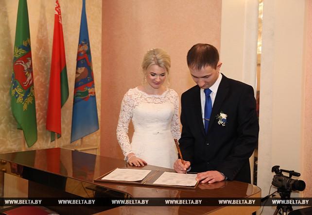 Регистрация сотого брака 2017 года состоялась в Витебске в честь 100-летия органов ЗАГС Беларуси