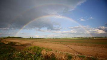 Двойная радуга в Гродно