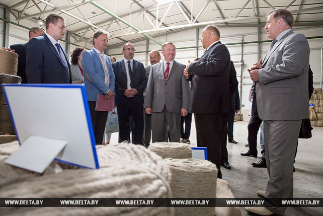 Андрей Кобяков посетил Пружанский льнозавод