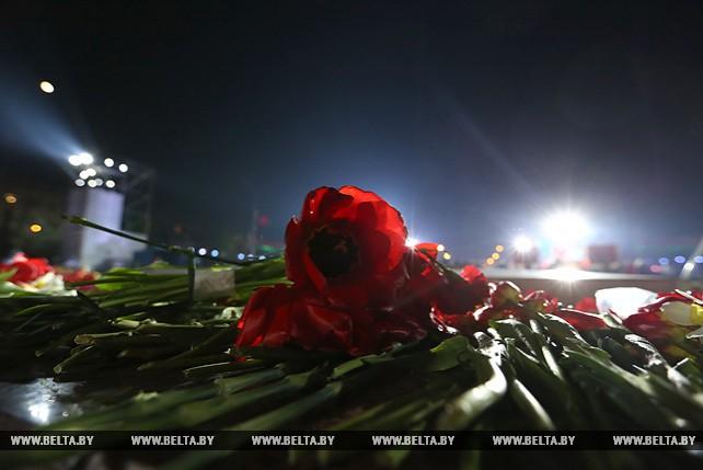 Масштабное 3D-шоу прошло на пл. Победы в Минске