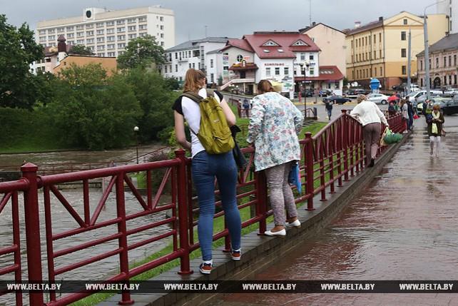 Ливневый дождь 13 июля затопил десятки улиц в Гродно